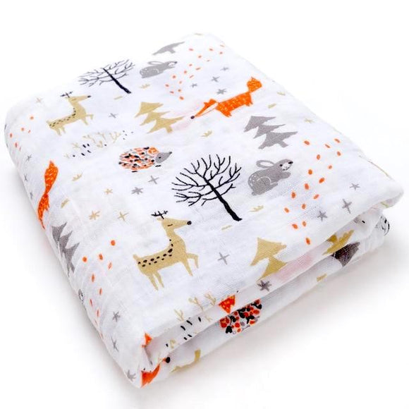 Extra Large Woodland Cotton Muslin