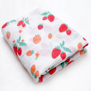 Extra Large Strawberry Cotton Muslin