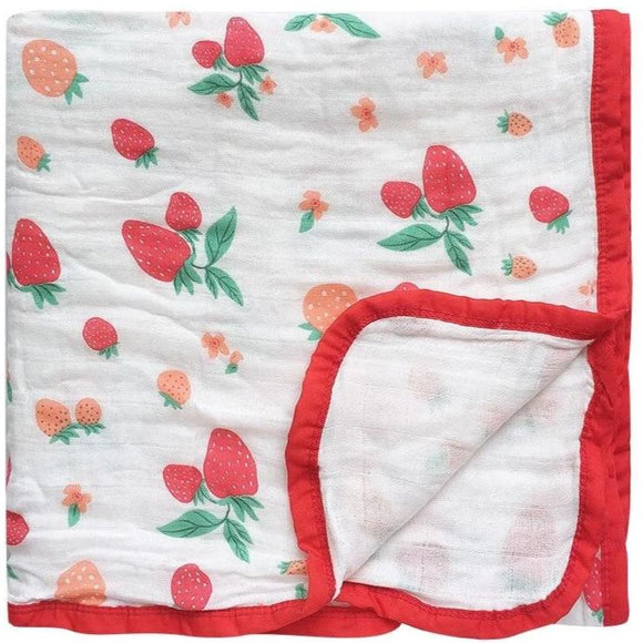 Six Layer Strawberry Cotton Blanket