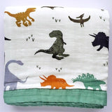 Four Layer Dino Bamboo Blanket