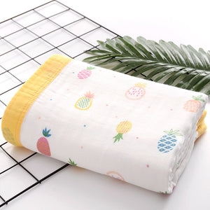 Six Layer Pineapple Cotton Blanket
