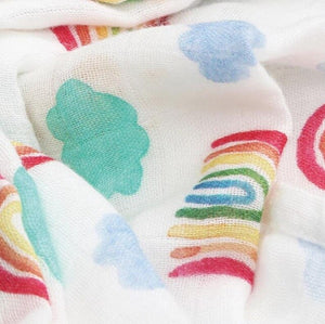2 Pack Rainbow Bamboo Muslin Squares