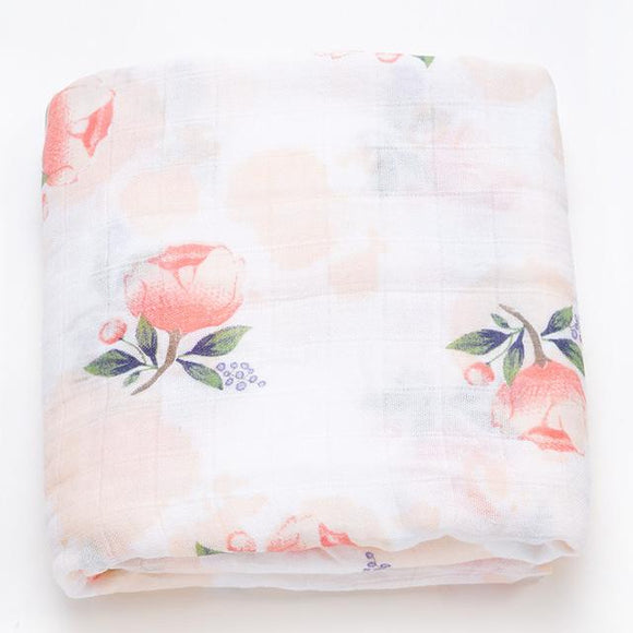 Extra Large Floral Bamboo Muslin