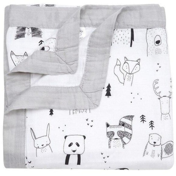 Four Layer Animal Bamboo Blanket