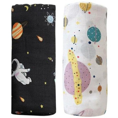 2 Pack Extra Large Space Bamboo Muslins