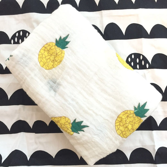Extra Large Pineapple Cotton Muslin