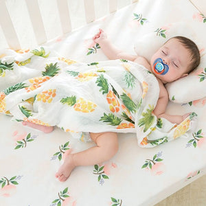 Extra Large Pineapple Bamboo Muslin