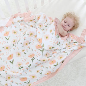 Four Layer Poppy Bamboo Blanket