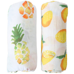 2 Pack Extra Large Fruity Bamboo Muslins
