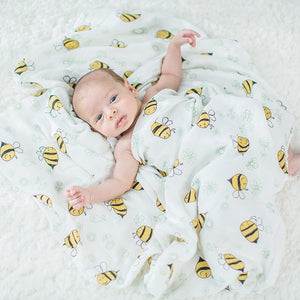 Extra Large Bee Bamboo Muslin