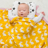 Four Layer Organic Cotton Rabbit Blanket