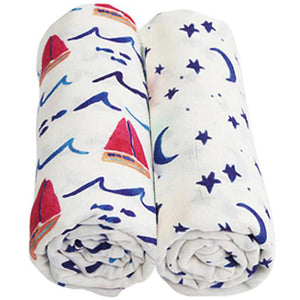 2 Pack Extra Large Sailing Bamboo Muslins