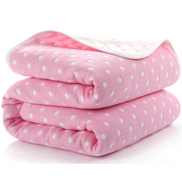 Six Layer Dotty Cotton Blanket