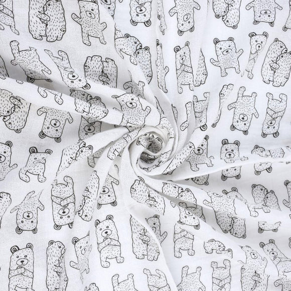 Extra Large Bear Cotton Muslin