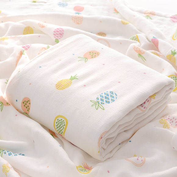 Four Layer Fruity Bamboo Blanket