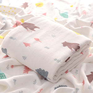 Four Layer Bear Bamboo Blanket