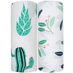 2 Pack Extra Large Nature Bamboo Muslins