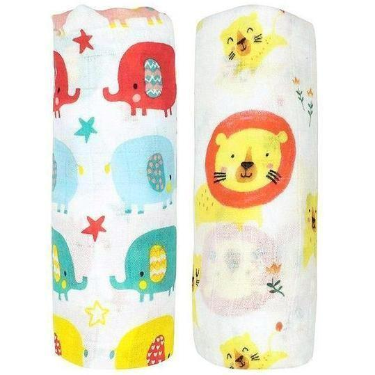 2 Pack Extra Large Circus Bamboo Muslins