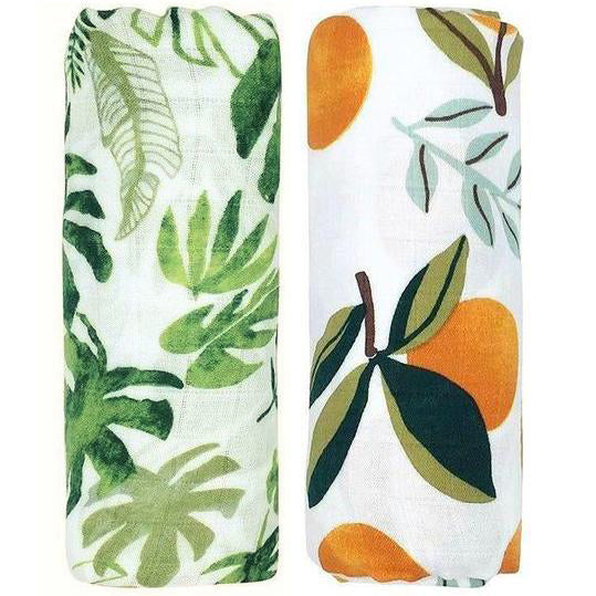 2 Pack Extra Large Tropical Bamboo Muslins