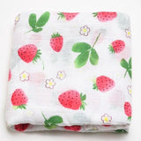 Extra Large Strawberry Bamboo Muslin