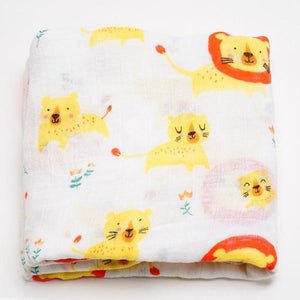 Extra Large Lion Bamboo Muslin