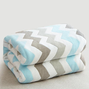 Six Layer Chevron Cotton Blanket