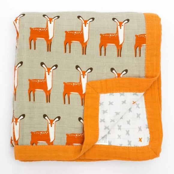 Four Layer Organic Cotton Deer Blanket