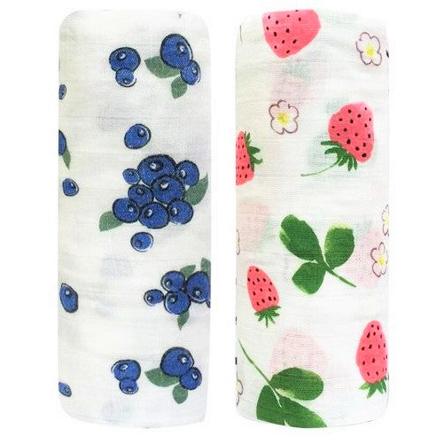 2 Pack Extra Large Berry Bamboo Muslins