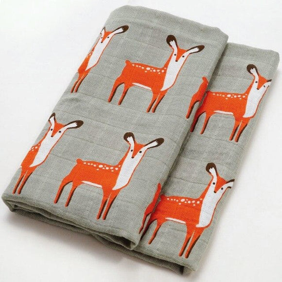 Organic Extra Large Deer Cotton Muslin
