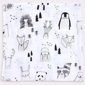 Extra Large Animal Bamboo Muslin