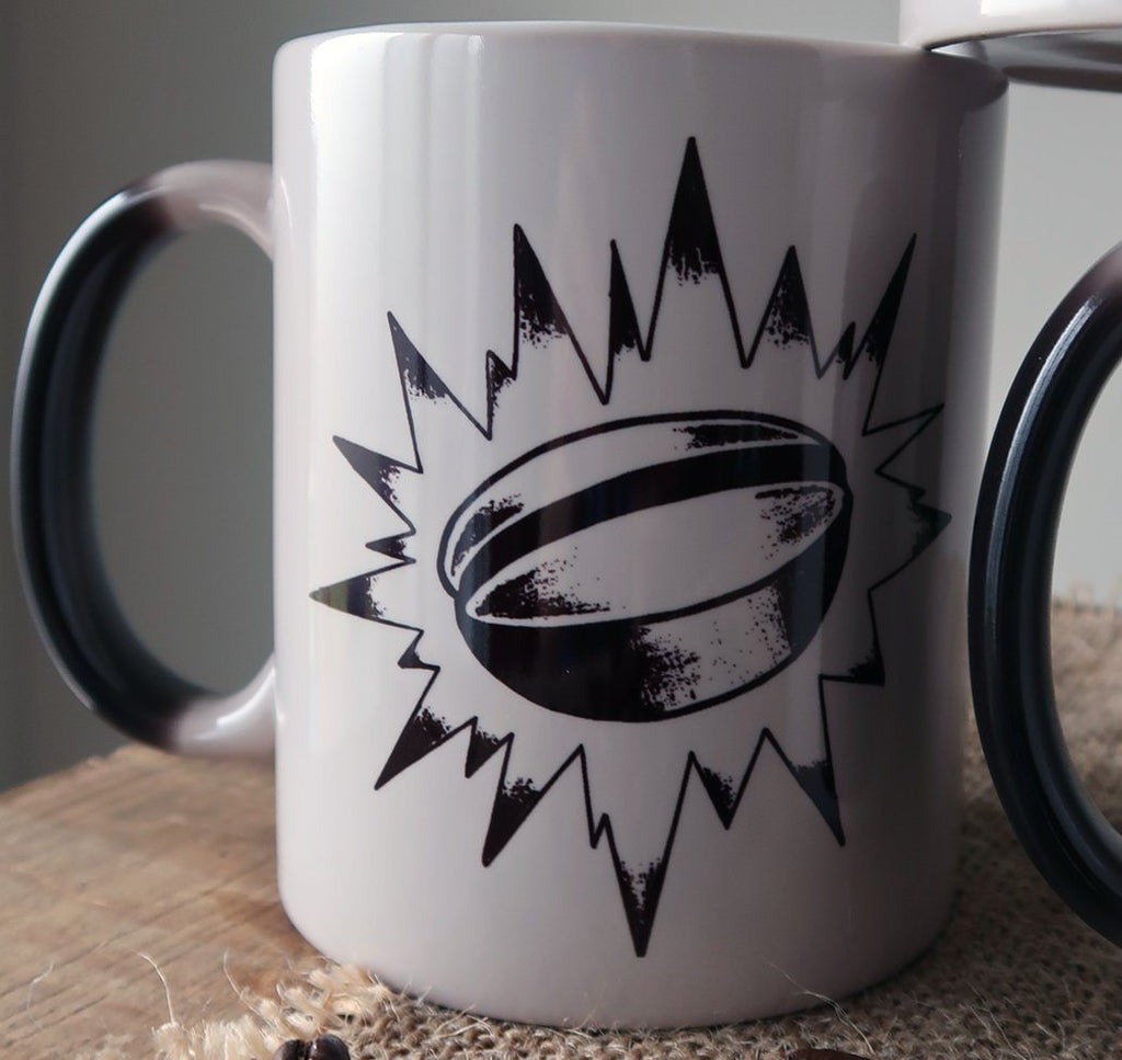 Colour Morphing Mugs - Artistic Series Mugs Rampage Coffee Co. Caffeine Bean
