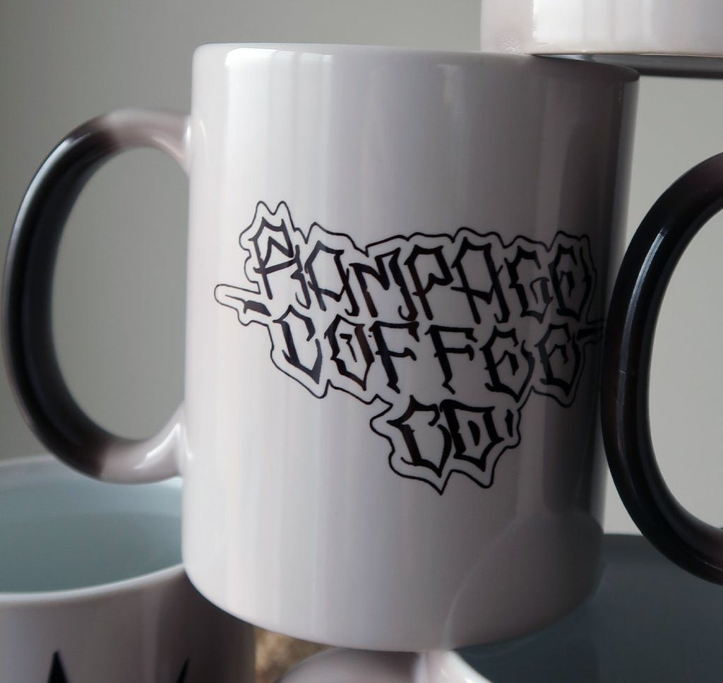 Colour Morphing Mugs - Artistic Series Mugs Rampage Coffee Co. Graffiti