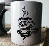 Colour Morphing Mugs - Artistic Series Mugs Rampage Coffee Co. Skull