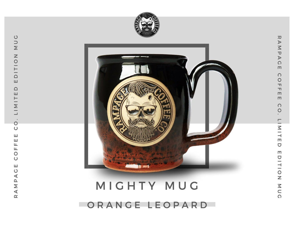 Mighty Mug - Orange Leopard (limited quantity) Mugs Rampage Coffee Co.