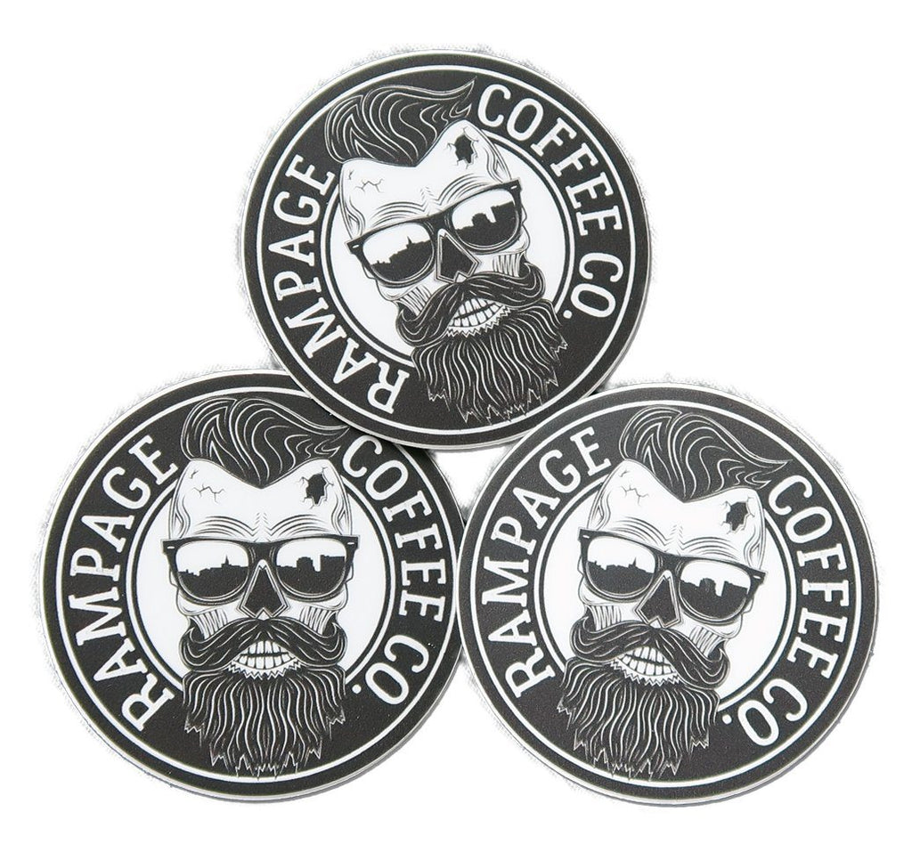Rampage Coffee Co. Logo Stickers (3 pack) Stickers Rampage Coffee Co.