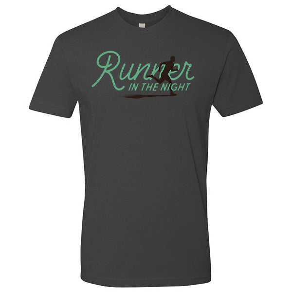 runner in the night t-shirt