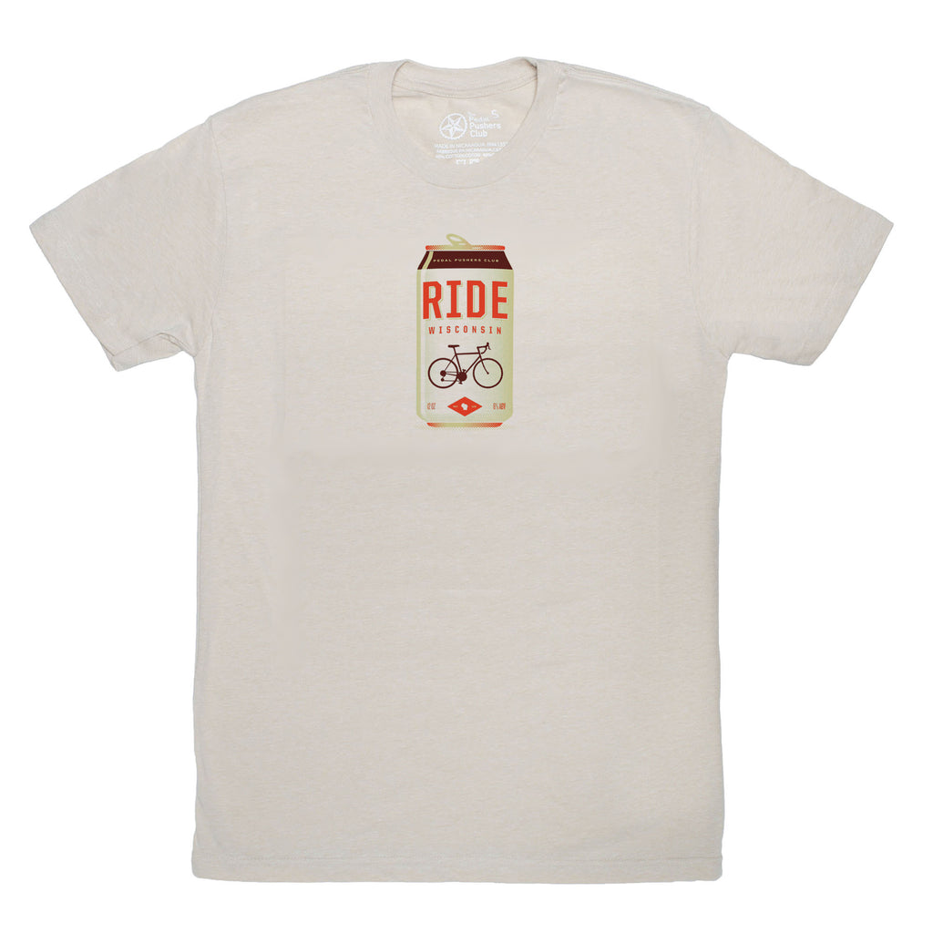 ride wisconsin cycling t-shirt