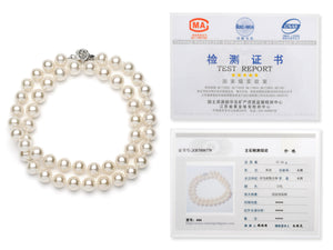 Necklace/Bracelet Set 7.0-8.0 mm White Freshwater Pearls