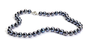 9.0 mm Black Freshwater Pearl Necklace