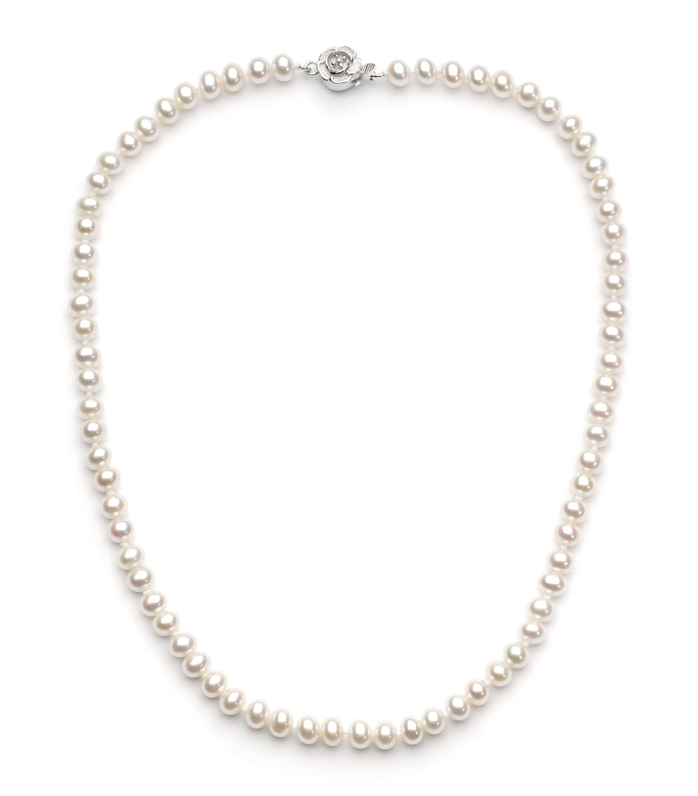 5.0-6.0 mm White Freshwater Pearl Necklace