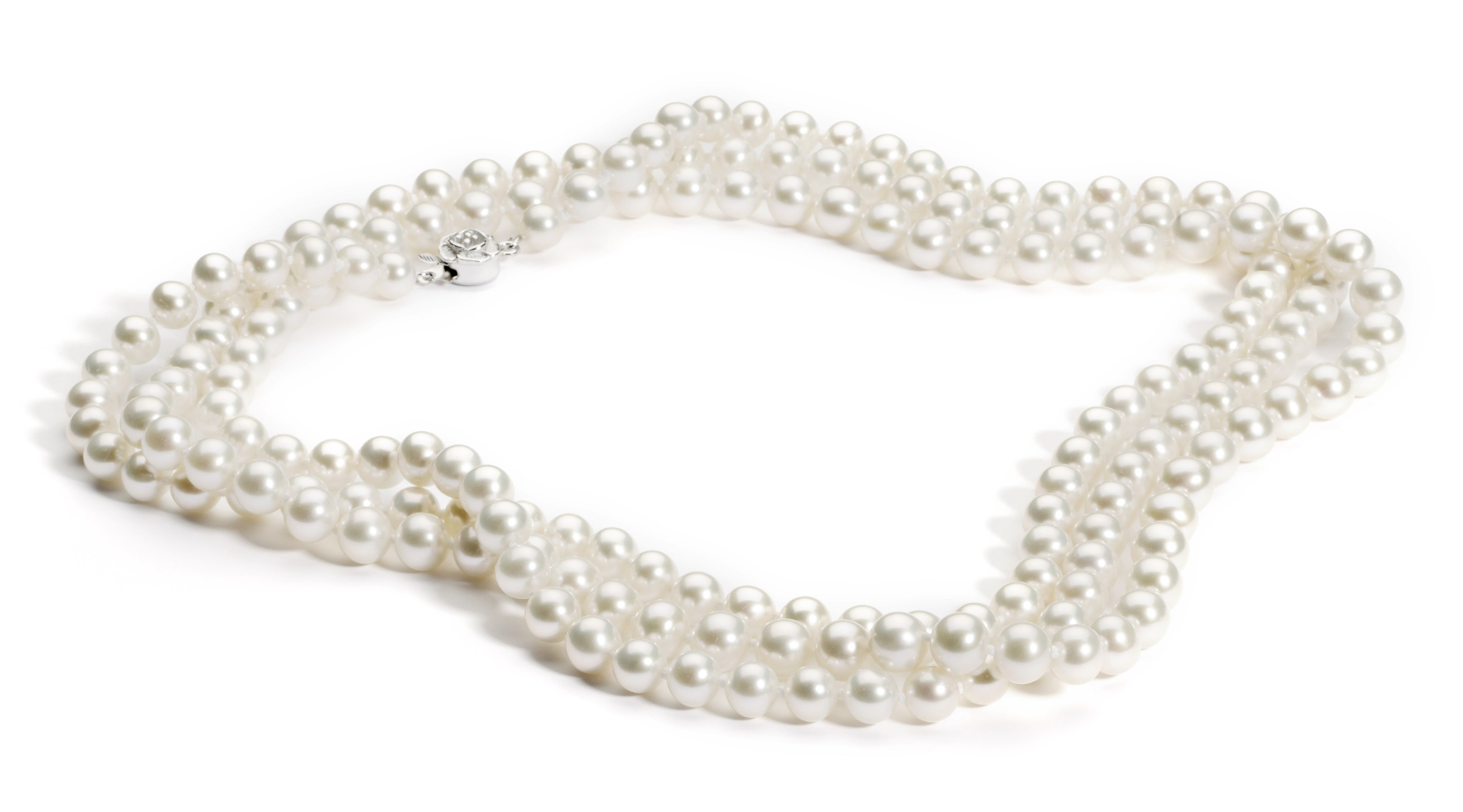 7.0-8.0 mm 52 Inch White Freshwater Pearl Necklace