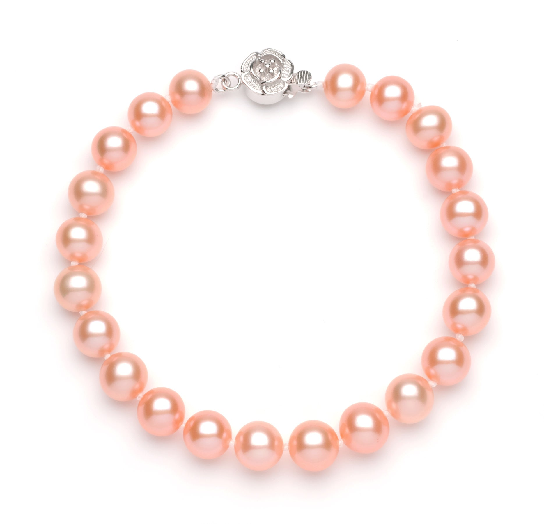 Full Set of 8.0-9.0 mm Pink Freshwater Pearls
