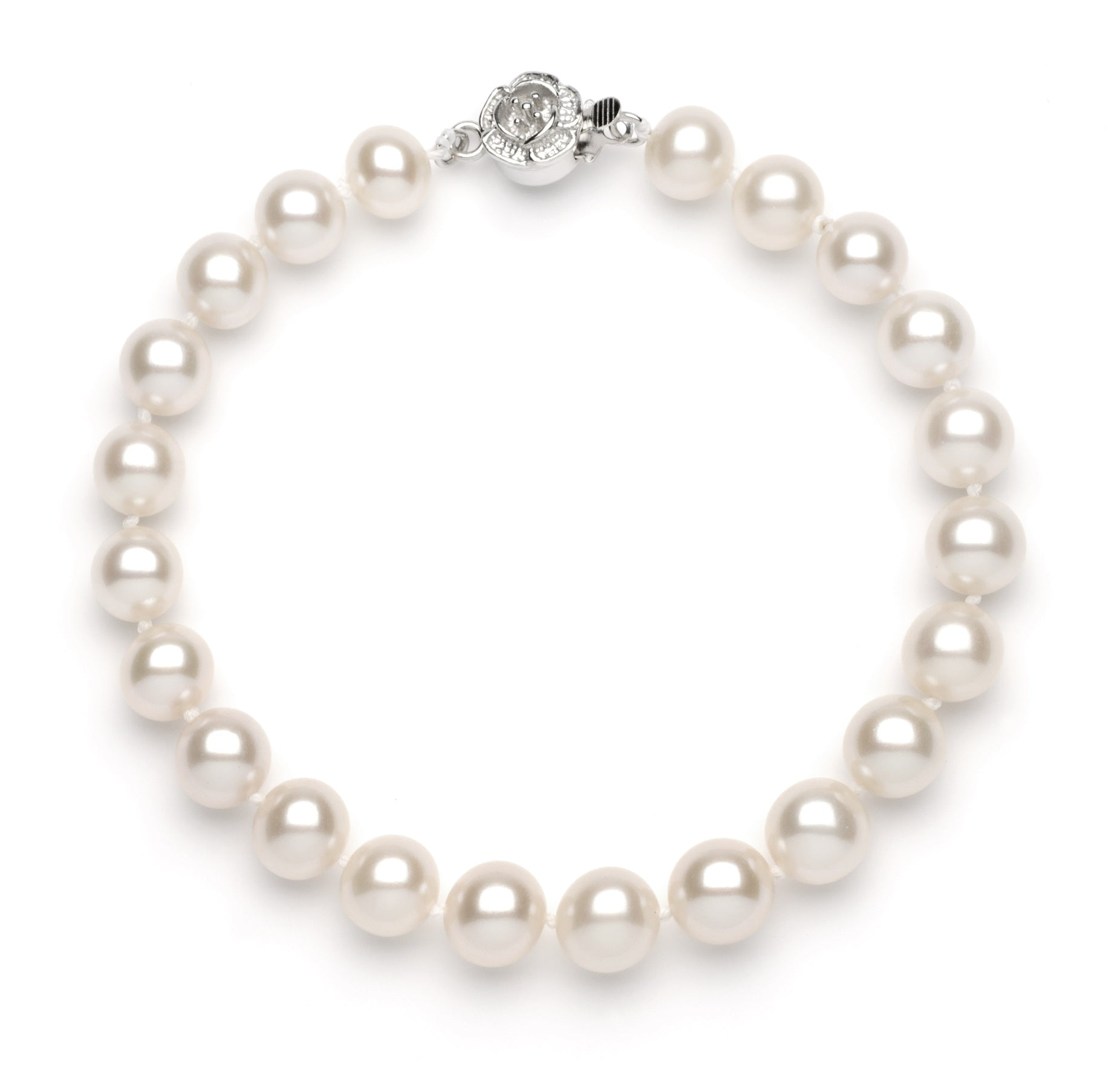 Full Set of 8.0-9.0 mm White Freshwater Pearls
