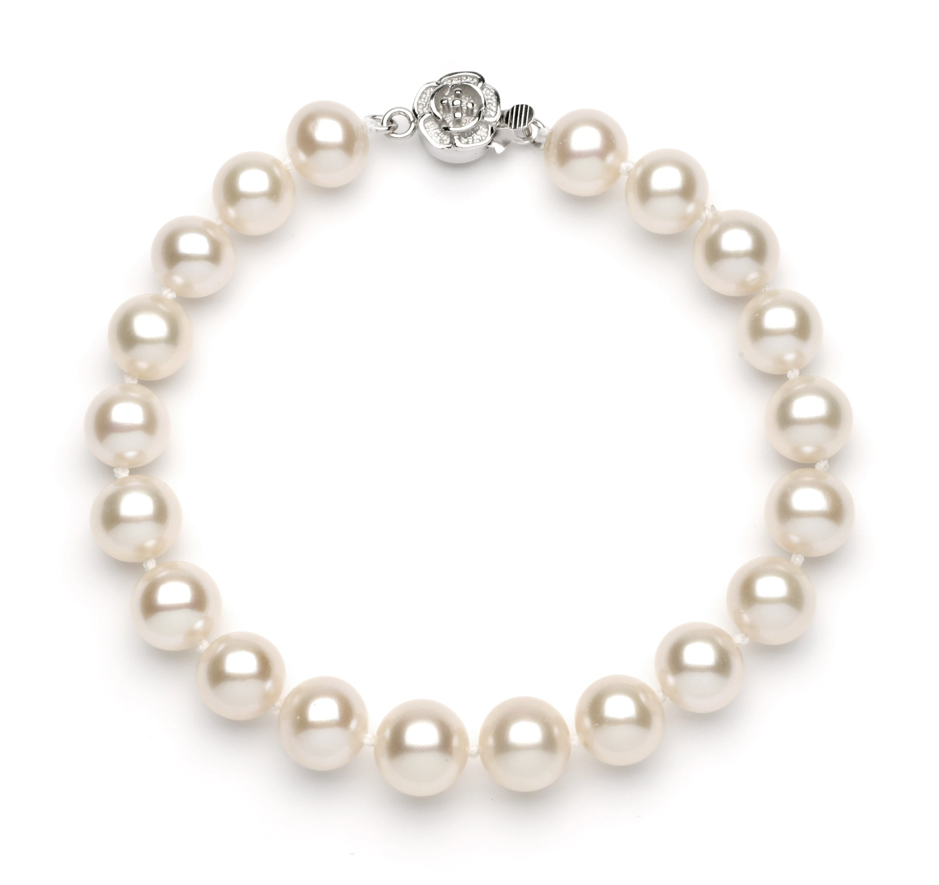 Full Set of 9 mm White Freshwater Pearls