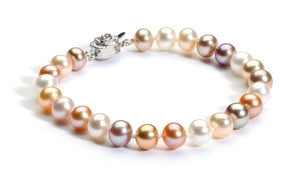 6.0-7.0 mm Multi-color Freshwater Pearl Bracelet