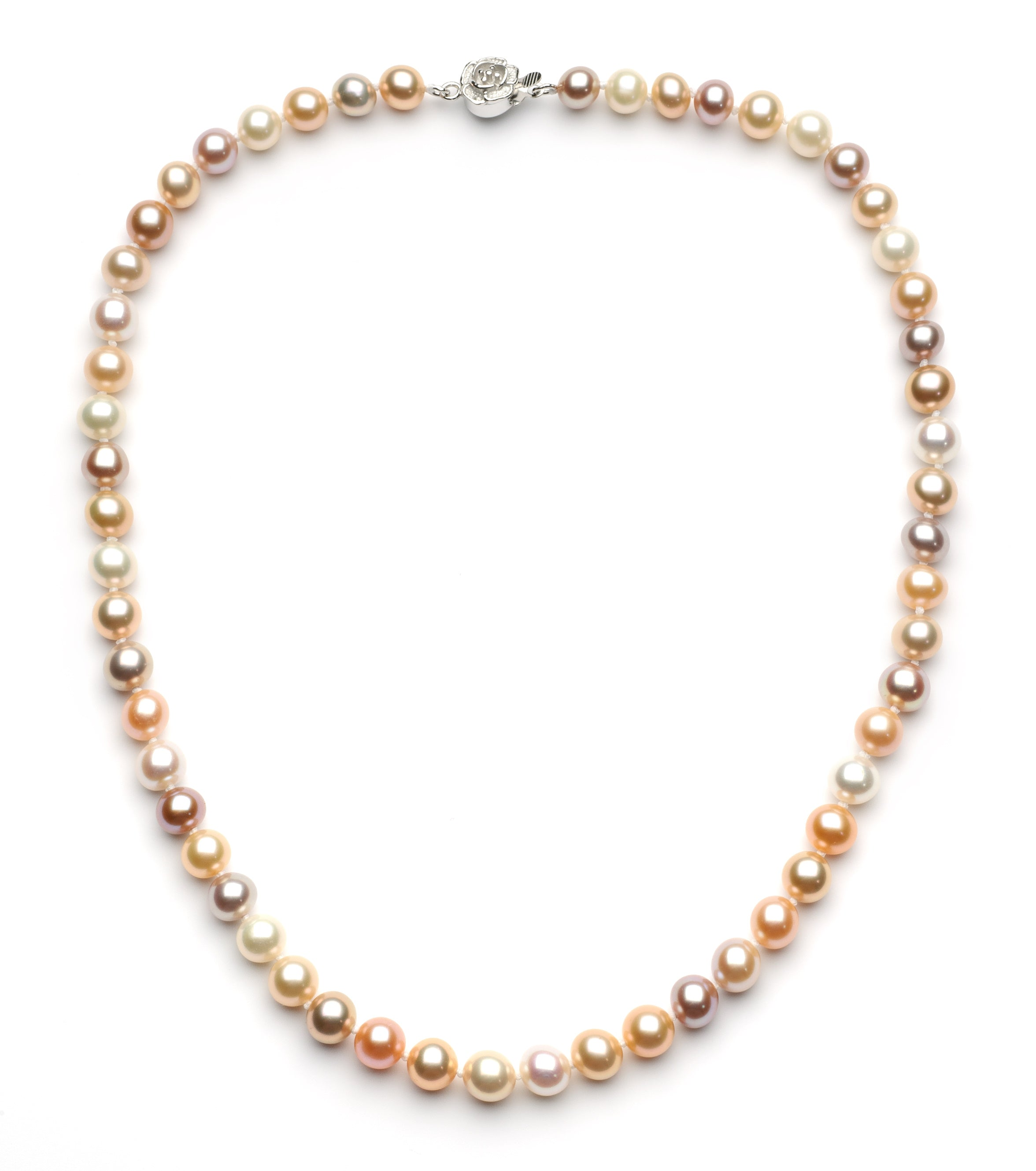 7.0-8.0 mm Multi-color Freshwater Pearl Necklace