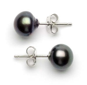 Full Set of 7.0-8.0 mm Black Freshwater Pearls