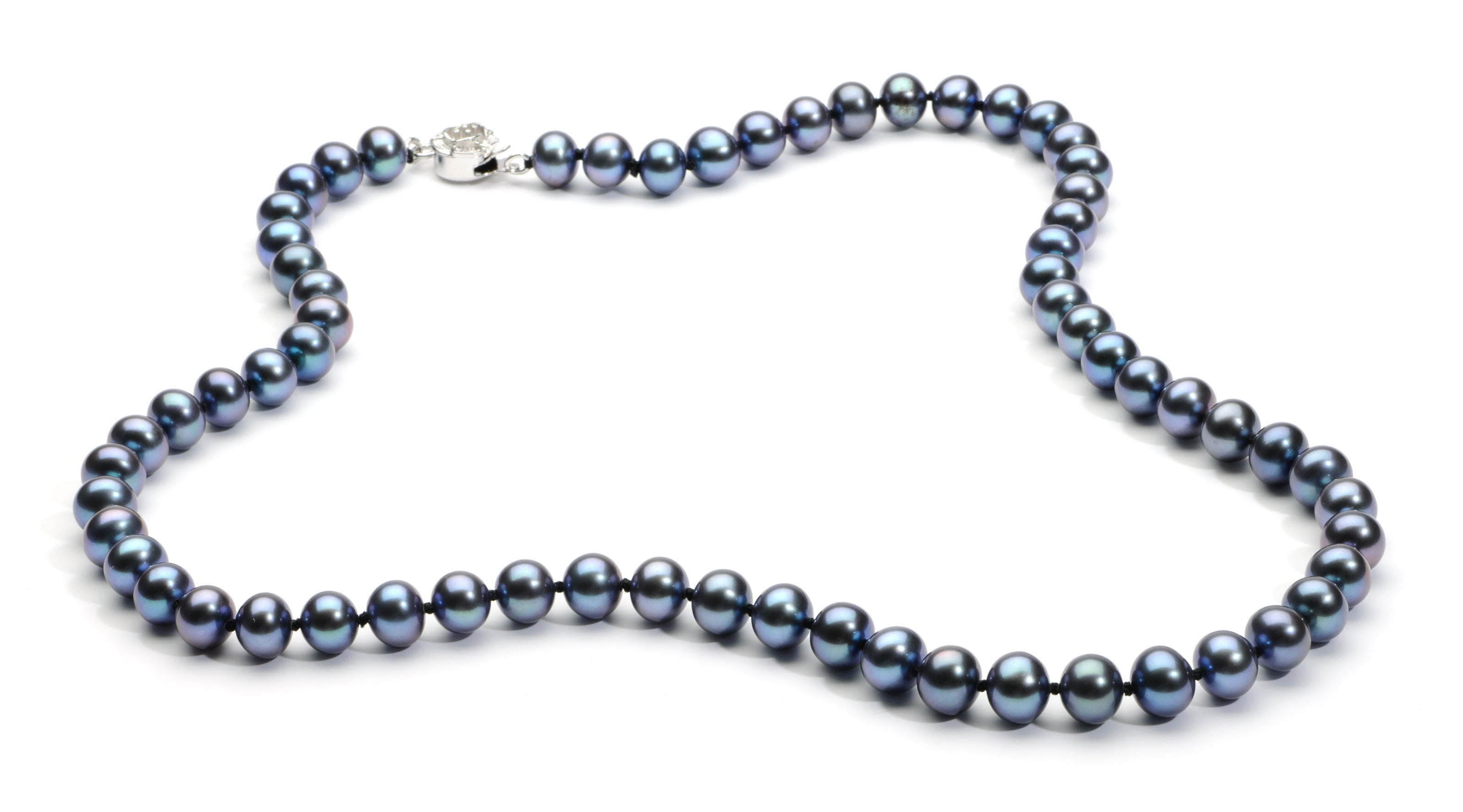 6.0-7.0 mm Black Freshwater Pearl Necklace