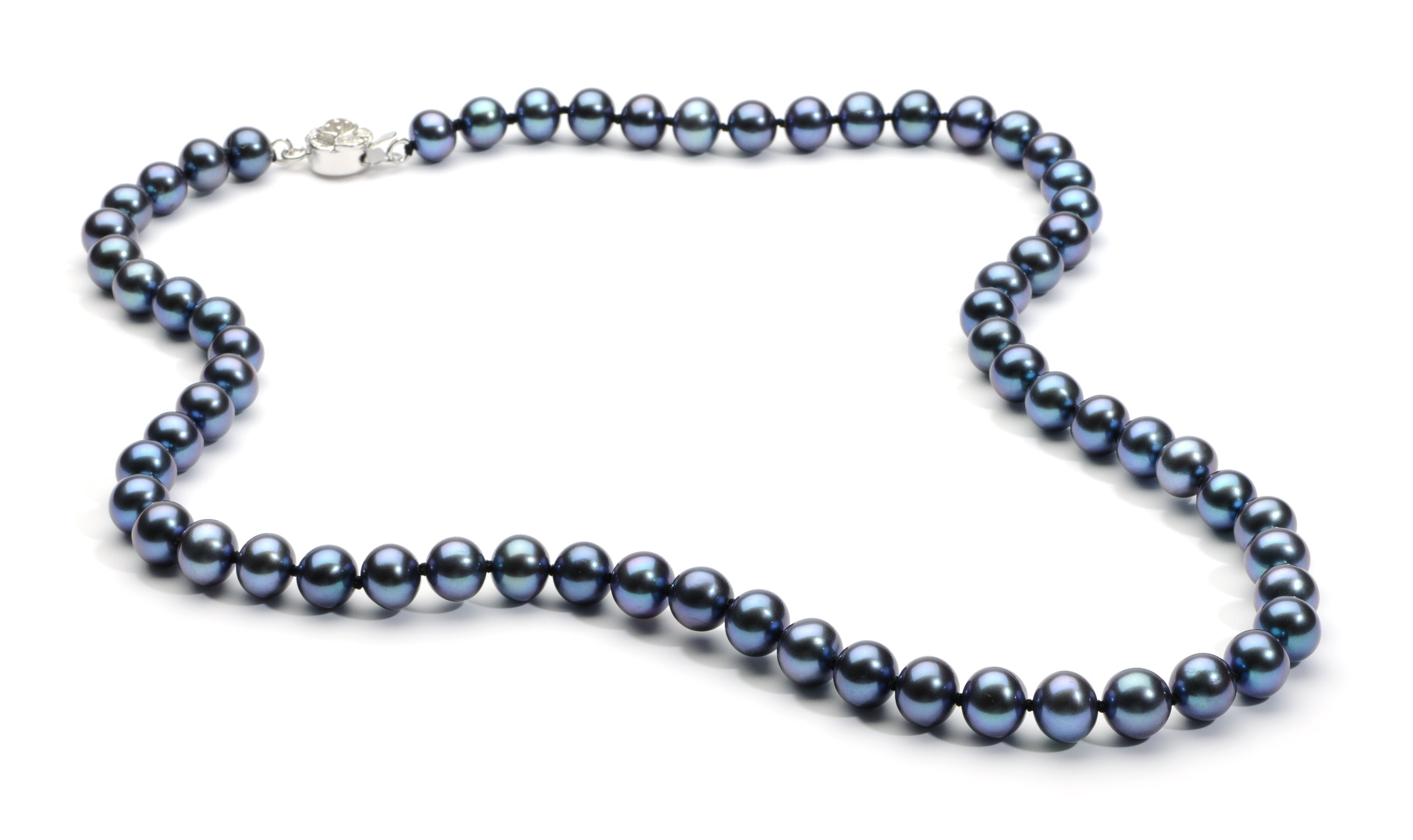 7.0-8.0 mm Black Freshwater Pearl Necklace