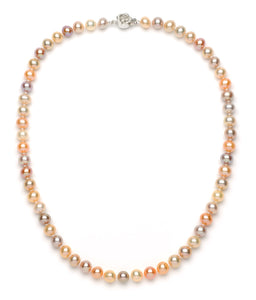 6.0-7.0 mm Multi-color Freshwater Pearl Necklace